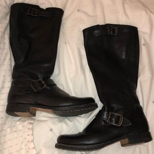Tall Frye Saddle Boots